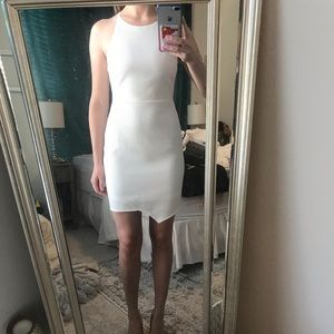 Fitted white dress, worn once